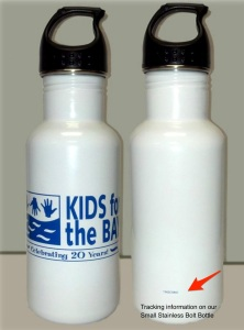 Tracking for water bottles for kids